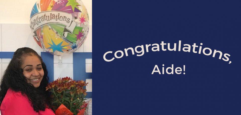 Congratulations, Aide!
