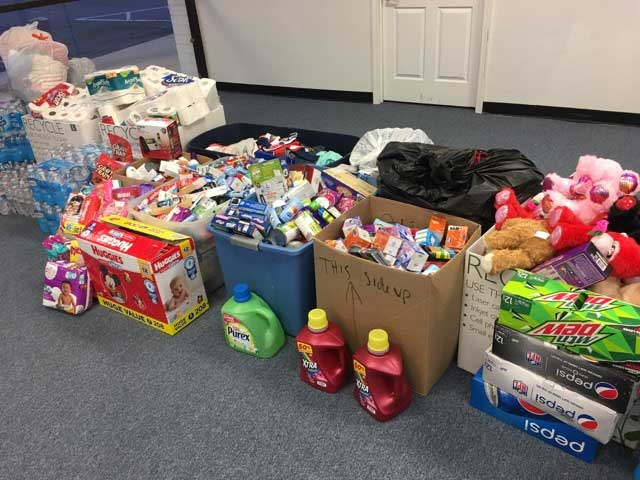 Items collected for tornado relief