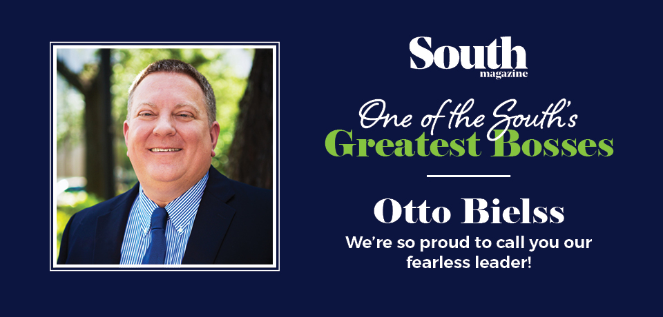 President Otto Bielss, named one of SOUTH Magazine's GREATEST bosses of 2017!