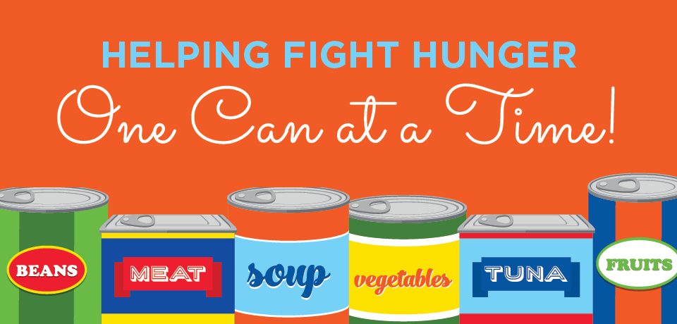 Helping Fight Hunger One Can at a Time!