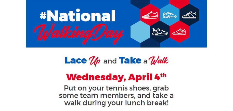 Lace Up on #NationalWalkingDay