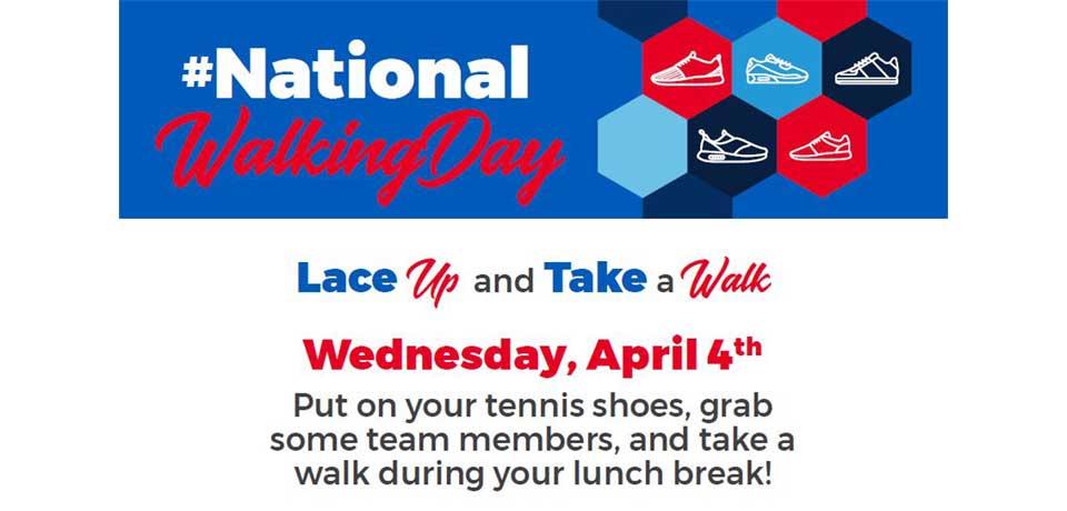 Lace Up on #NationalWalkingDay