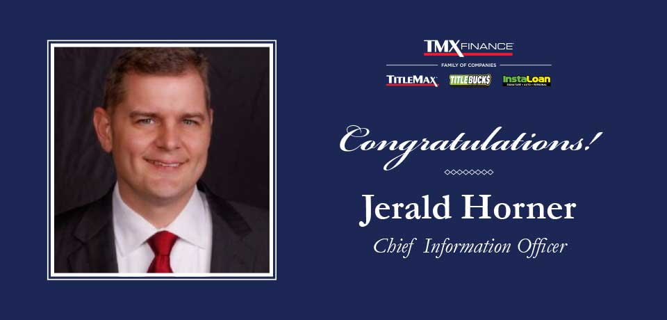 Jerald Horner Named Chief Information Officer