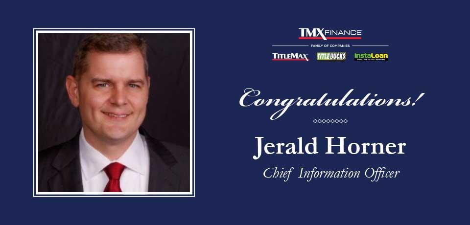 Jerald Horner Named Chief Information Officer