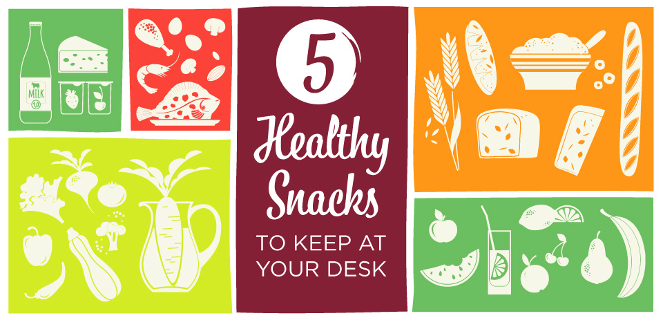 Five Healthy Snacks to Keep at Your Desk!