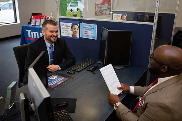 Man being interviewed for a job