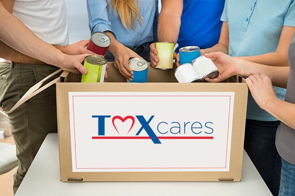 TMX Cares Logo