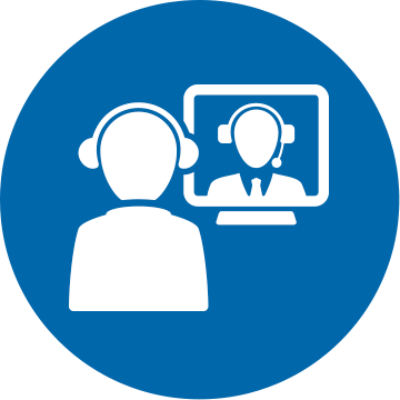 Web video conference icon